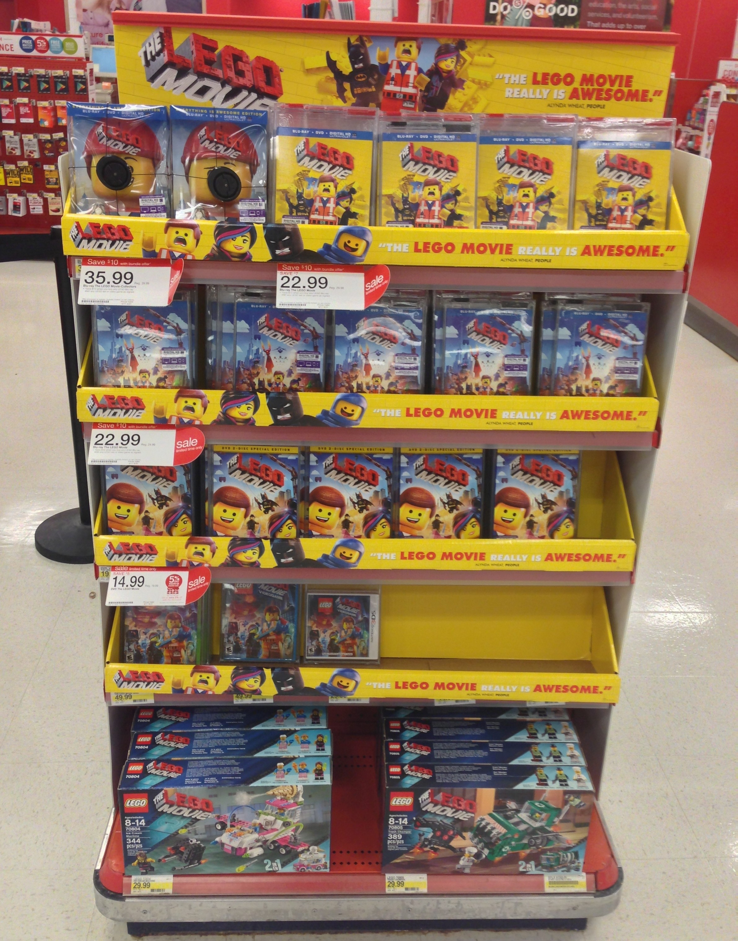 The Lego Movie Blu Ray Dvd Sets Released In Stores Bricks And Bloks