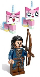 LEGO SDCC 2014 Exclusives Unikitty Minifigure Bard Minifigure