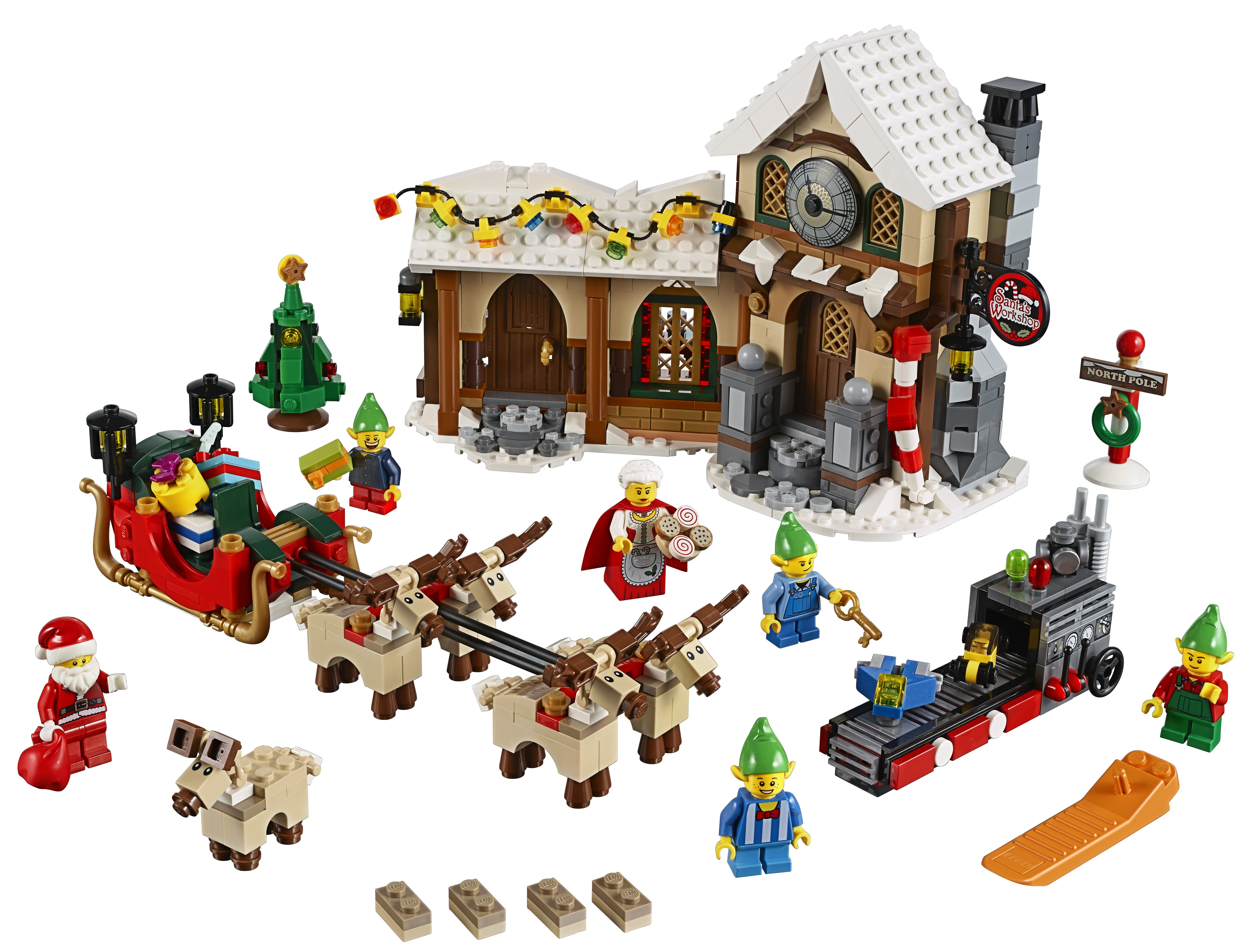 lego santa 39 s workshop 10245 set up for order bricks and. Black Bedroom Furniture Sets. Home Design Ideas