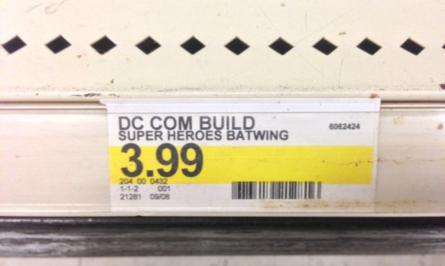 30301 LEGO Batwing Polybag Shelf Price Tag at Target Seasonal Halloween Section
