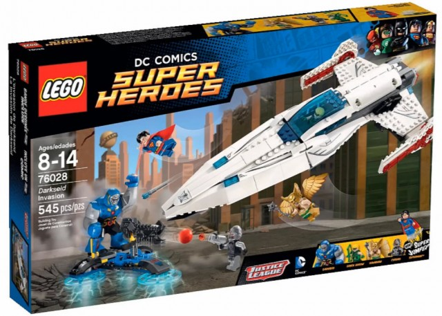 2015 LEGO Darkseid Invasion 76028 Set Box LEGO DC Superheroes Winter 2015