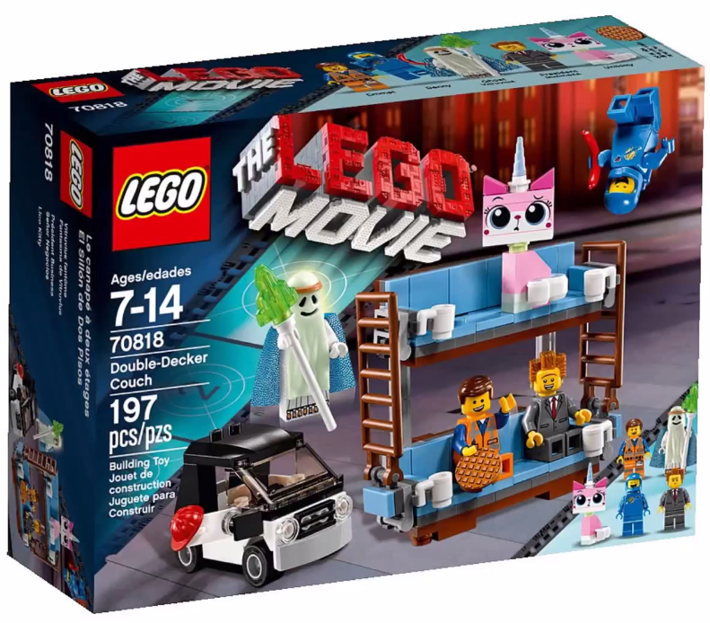 2015 lego movie double decker couch 70818 set revealed bricks and