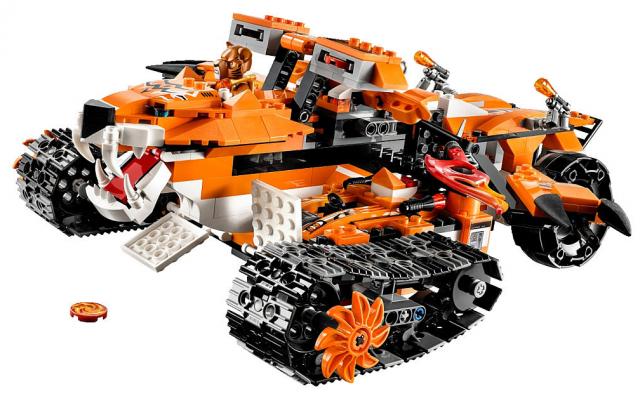 2015 LEGO Chima Tiger's Mobile Command Set with LEGO Trakkar Minifigure