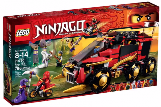 2015 LEGO Ninjago DB X 70750 Mobile Ninja Base 2015 Set Box