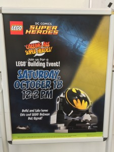 LEGO Bricktober Bat-Signal Build Poster