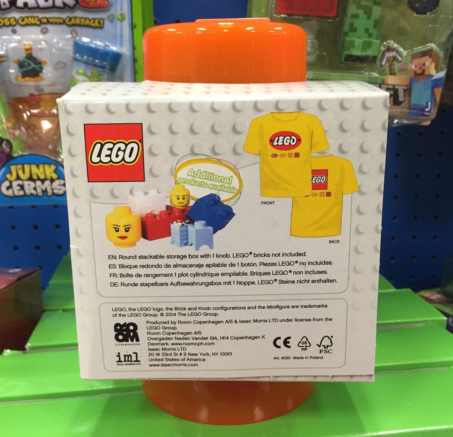 Orange LEGO Storage Brick T Shirt Target Exclusive Set Bricks