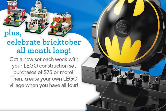 LEGO Bat Signal Toys R Us Exclusive Bricktober Build! - Bricks and Bloks