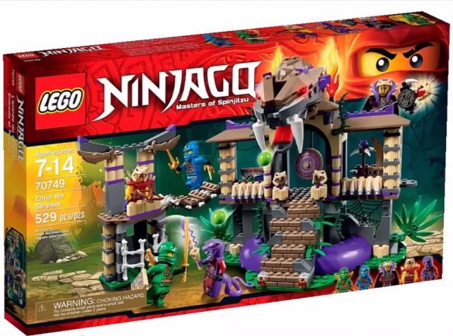 LEGO Ninjago 2015 Enter the Serpent 70749 Set Anacondrai Temple