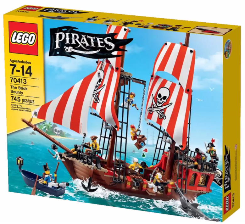 2015 lego pirates the brick bounty pirate ship 70413. Black Bedroom Furniture Sets. Home Design Ideas