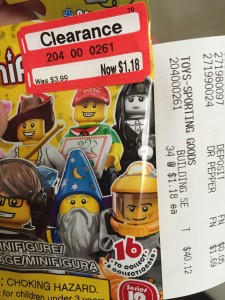 LEGO Minifigures Series 12 Clearance Sale Stickers