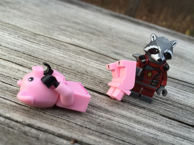 LEGO Rocket Raccoon Figure Steals a Pig Man's Legs