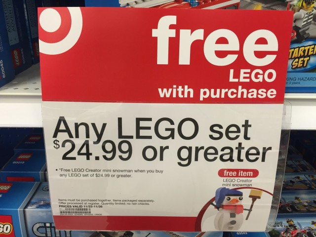 Free LEGO 30197 Snowman Polybag Set Promo Offer at Target Stores