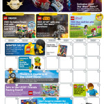 January 2015 LEGO Store Calendar! Mini LEGO AT-DP Promo!