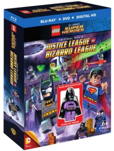 LEGO Batzarro Minifigure with LEGO DC Comics Justice League vs. Bizarro League DVD