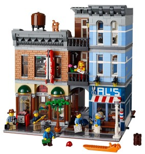 LEGO Detective's Office 10246 Set Contents Front Facade