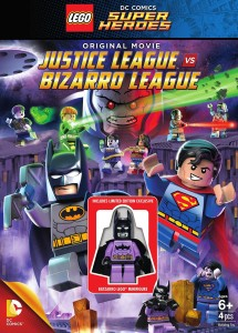 LEGO Justice League vs Bizarro League DVD Set with Batzarro Minifigure