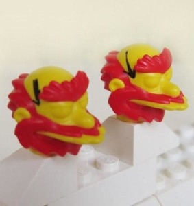 Groundskeeper Willie LEGO Simpsons Minifigure Head