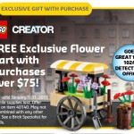 Free LEGO Flower Cart 40140 Promo Set in January 2015!
