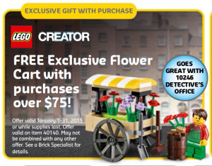40140 LEGO Flower Cart Set Promo LEGO Stores January 2015