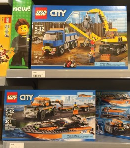2015 LEGO City Sets Released Excavator Powerboat