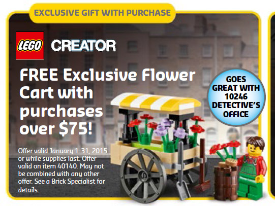 LEGO Flower Cart 40140 Set Promo Exclusive LEGO Stores January 2015