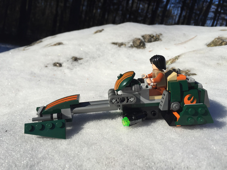 how to build lego star wars speeder bike