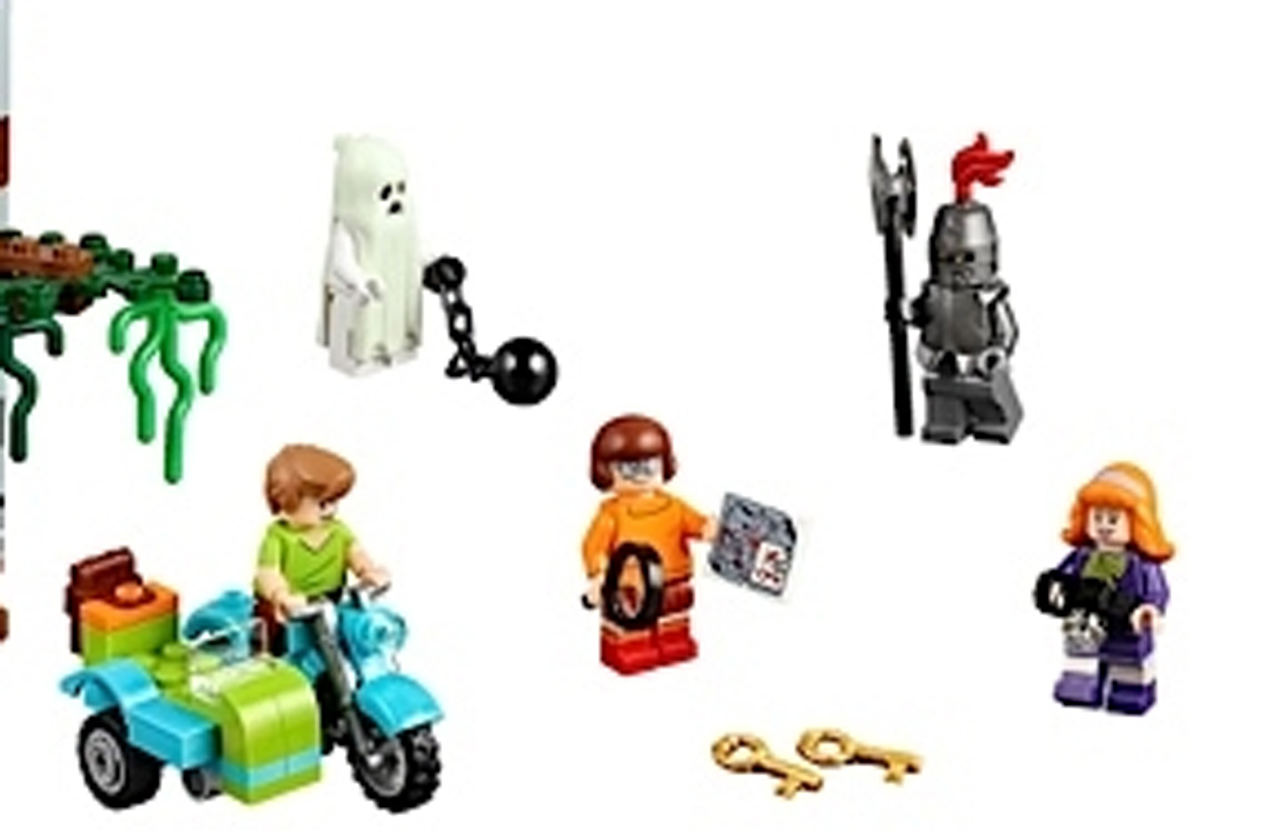 Very Hard To Find Velma /& Daphne Minifigures LEGO Scooby Doo 75904