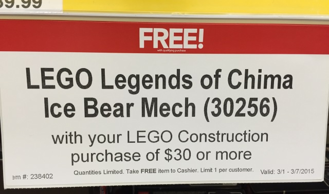 Free LEGO Legends of Chima Ice Bear Mech Set Promo