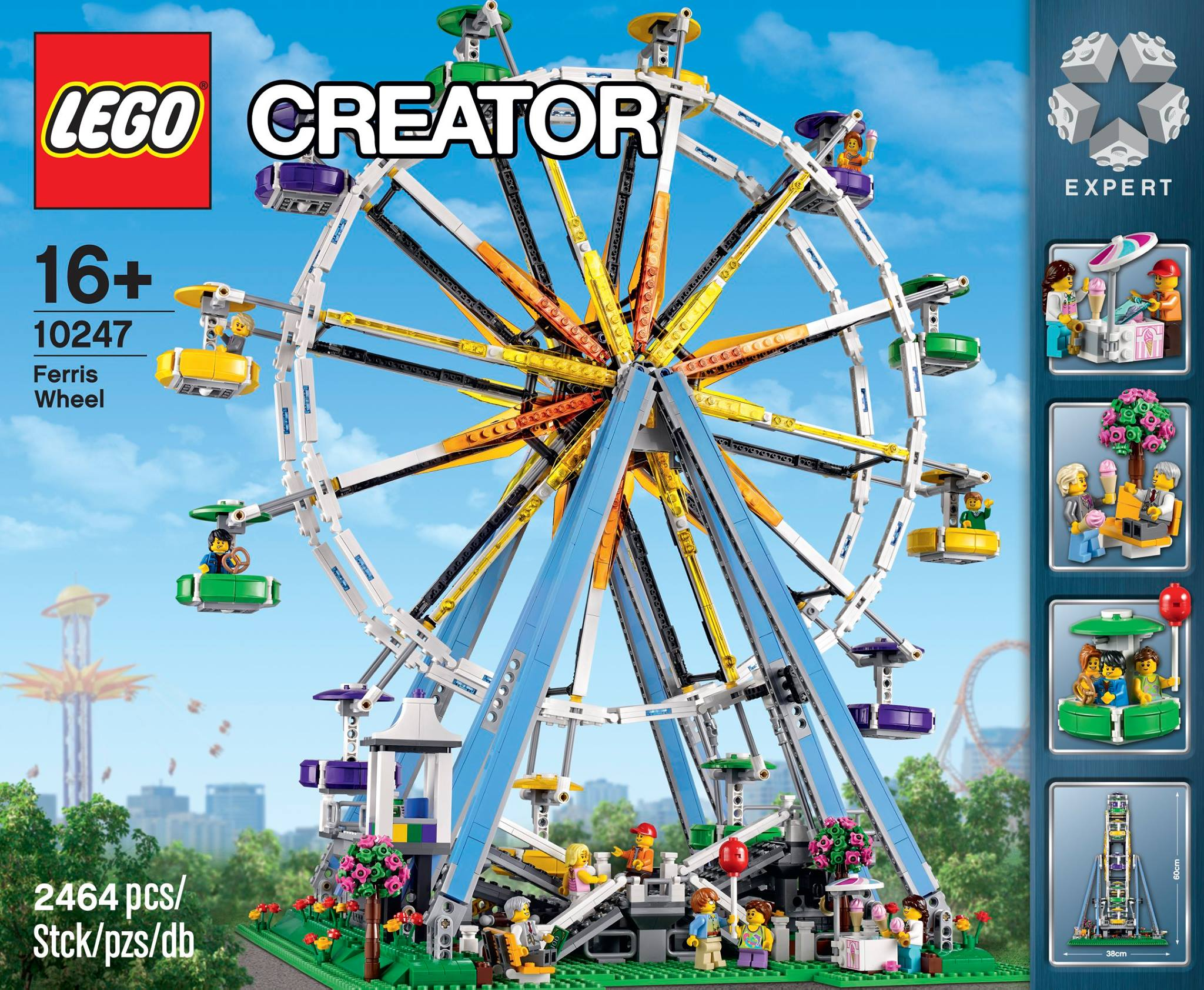 lego ferris wheel fully revealed w photos video bricks and bloks. Black Bedroom Furniture Sets. Home Design Ideas