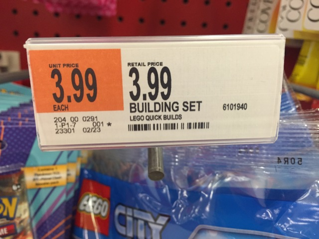 Price Tag for LEGO City 30314 Target Set