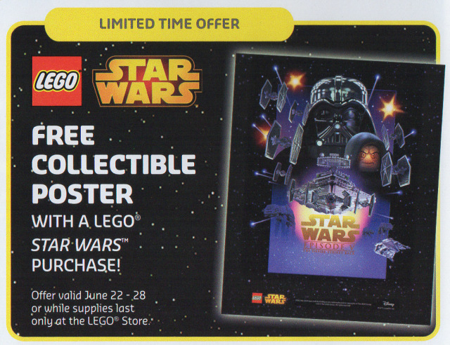 Free LEGO Star Wars Poster LEGO Stores June 2015