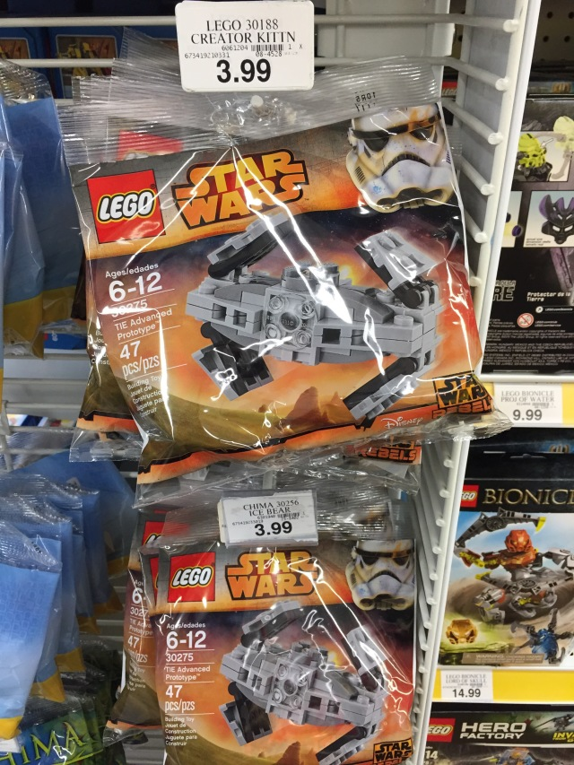 Toys R Us Exclusive Free LEGO Star Wars TIE Advanced Sets