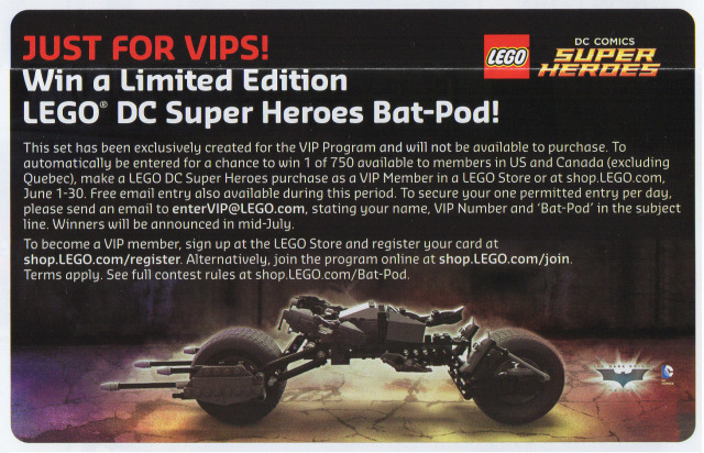 LEGO Bat-Pod Limited Edition Set June 2015