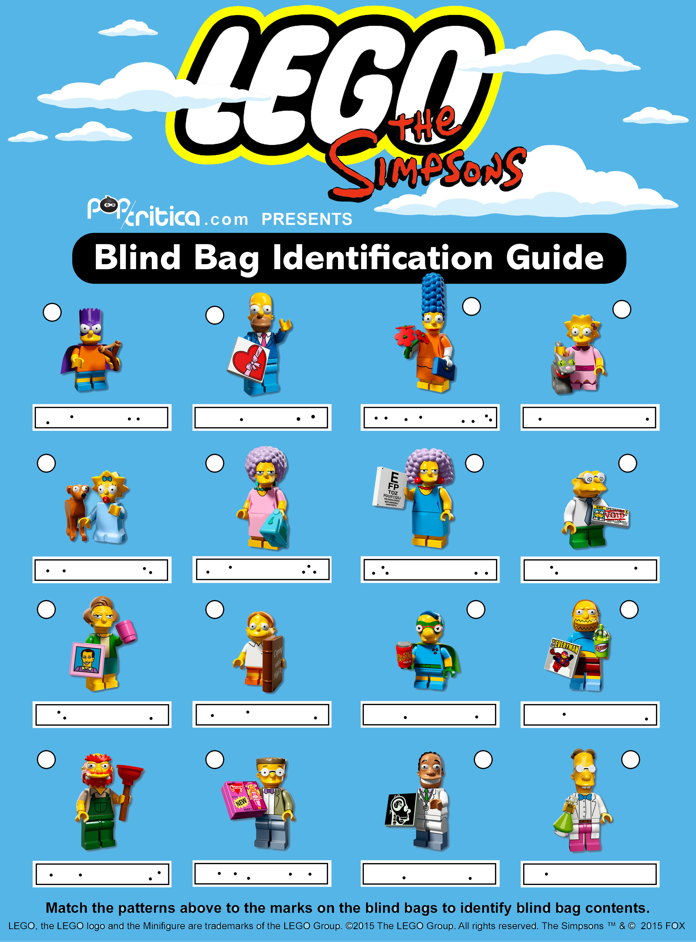 Lego Simpsons Minifigures Series 2 Codes List Bricks And Bloks
