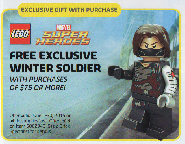 LEGO Winter Soldier Minifigure Free Promo June 2015