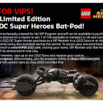 Limited Edition LEGO Bat-Pod Set Announced & Photo!