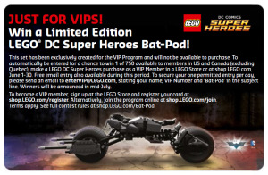 Limited Edition LEGO Bat-Pod Set