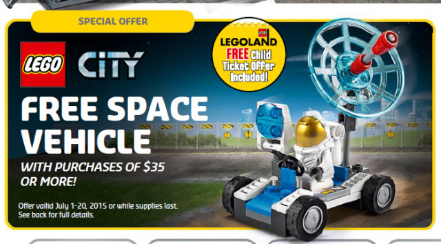 Free 30315 LEGO City Space Vehicle Polybag July 2015