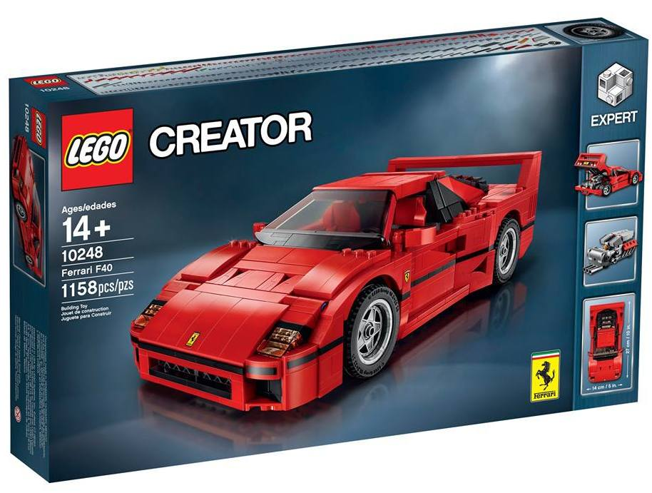 lego ferrari f40 10248 set revealed photos video. Black Bedroom Furniture Sets. Home Design Ideas