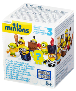 Minions Mega Bloks Series 3 Blind Box Figures Packaging