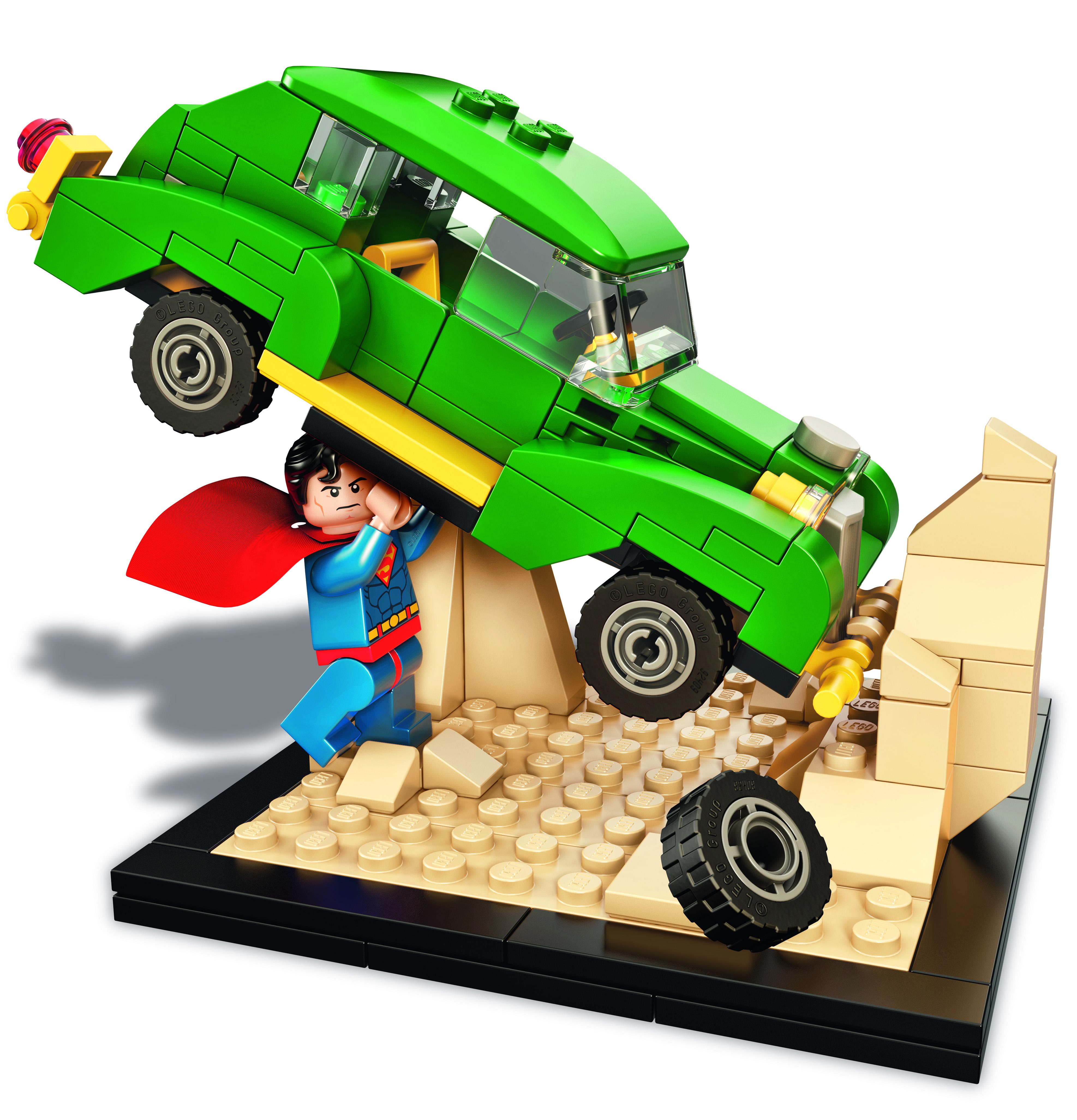 exclusive sdcc 2015 lego dc action comics 1 set bricks and bloks. Black Bedroom Furniture Sets. Home Design Ideas