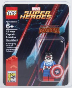 SDCC 2015 LEGO All-New Captain America Minifigure Falcon Sam Wilson