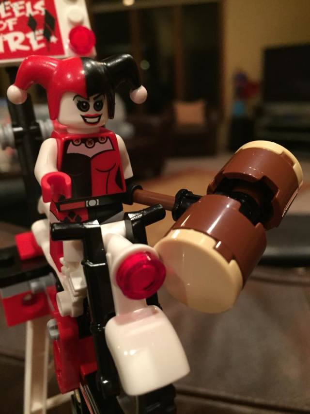 Close-Up of Harley Quinn Minifigure from LEGO Batman Jokerland Set
