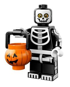 LEGO Skeleton Guy Minifigure with Trick or Treat Basket