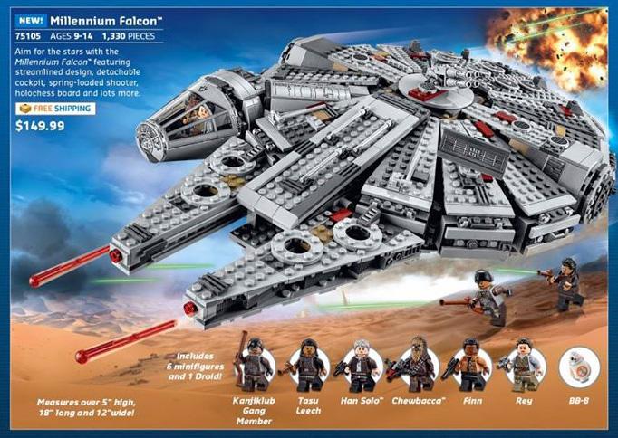 LEGO Star Wars Episode VII Millennium Falcon 75105! - Bricks and Bloks