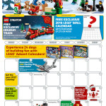 November 2015 LEGO Store Calendar Free Promos & Events