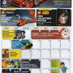October 2015 LEGO Store Calendar! Holiday Train Promo!
