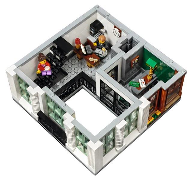 10251 Brick Bank Modular Building LEGO 2016 Set Interior Upstairs