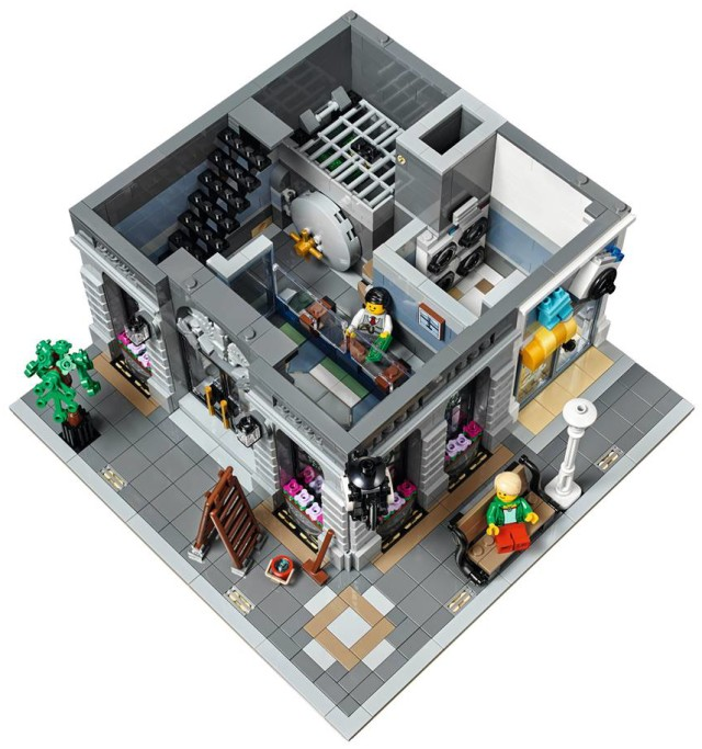 Brick Bank LEGO Modular Building Set Bottom Floor Interior