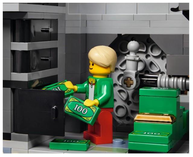 Depositing Money at the LEGO Brick Bank